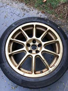 Prodrive OZ Racing P1 Rims 17 Inch 5x100