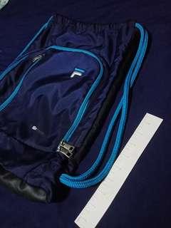 Genuine Fila (FilaTech) Drawstring Backpack / Gym Bag