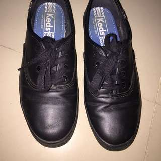 Authentic BlaCk leather Keds