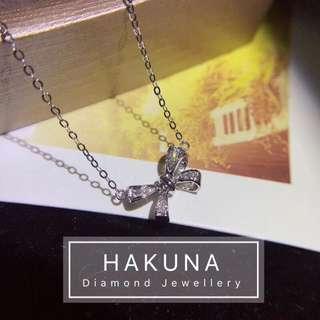 18K金天然鑽石吊墜💎