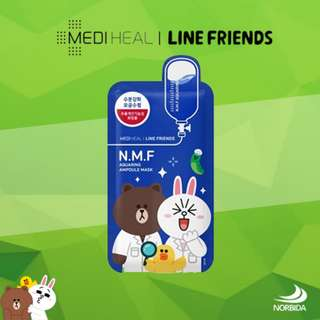 Mediheal Line Friends N.M.F Aquaring Ampoule Mask Pack 27ml X 10pcs