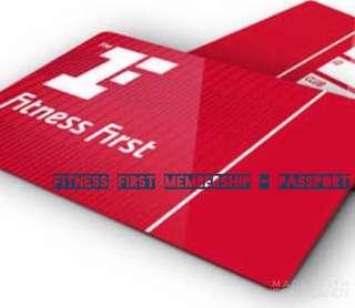 Fitness First Membership | Passport