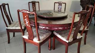Dining Table Set in Mother of Pearl