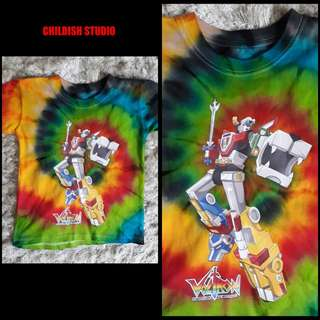 VOLTRON (Robot) tie dye shirt for kids age 7-8 years old.