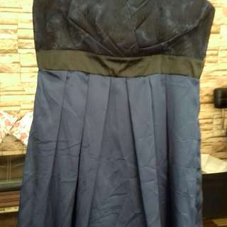 Tube dress in midnight blue