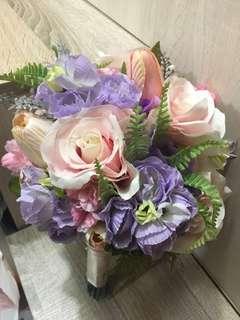 婚禮用品韓國結婚花球粉色