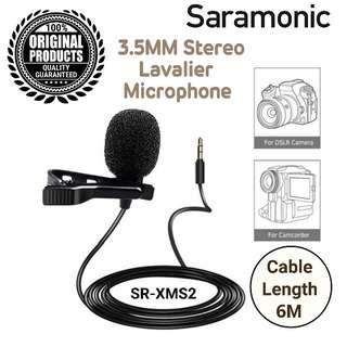 Saramonic 3.5mm Stereo Lavalier Microphone SR-XMS2 / Instock!