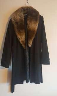 Nasty girl coat with fur collar