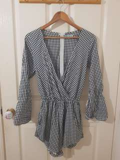 Gingham Playsuit Size 6/XS