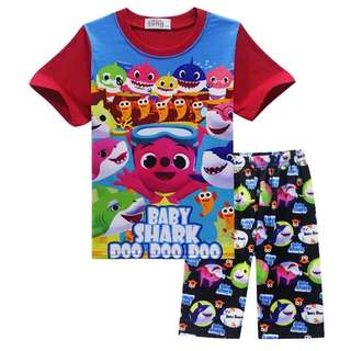 New Babyshark Top with Short Pant (Boy)