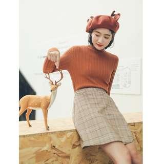 Khaki Colour Skirt