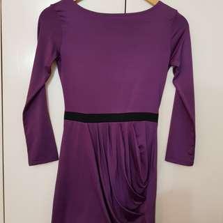 Violet short dress with side detail