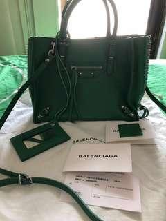 Balenciaga mini papier a4 zip around shoulder bag