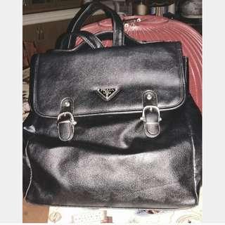 Prada Black LeatherBackpack