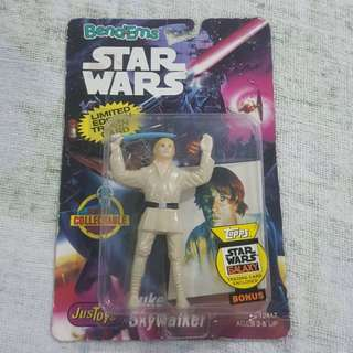 Legit Brand New Sealed JusToys BendEms Star Wars Luke Skywalker Topps Toy Figure