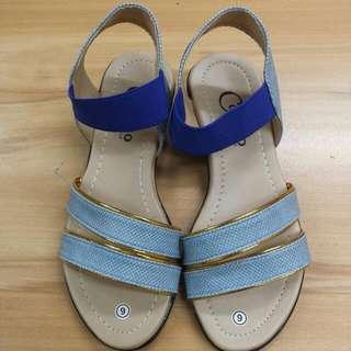 🔴CAMINO strappy Sandals Blue