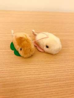 🚚 日本帶回~絨毛小鼠 辦公桌上小物 全新 吊飾