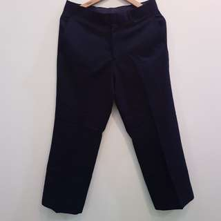 Stanley Adams Celana Bahan biru tua sz 32