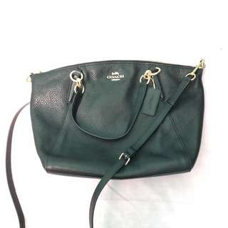Authentic coach small kelsey satchel