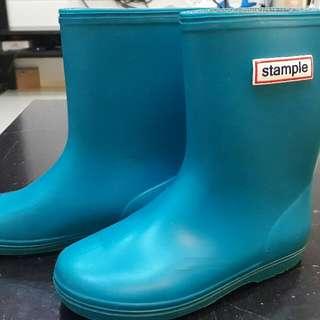 日本stample兒童雨鞋-天空藍