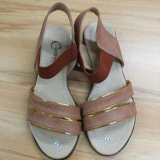 🔴CAMINO strappy Sandals Brown