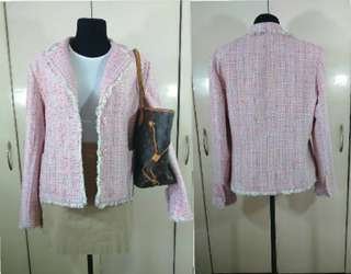 Ladies Chanel Inspired Tweed Blazer