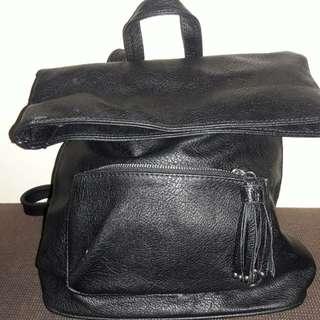 Black Stradivarius Backpack new