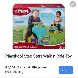 Playskool step start walker and ride on baby toy