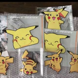 Pikachu sticker decal stickers cute children cartoon Pokémon pokemon