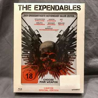 THE EXPENDABLES Blu-ray Limited Special Edition Steelbook Hero Pack Bluray OOP US$77 | S$95