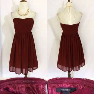 F21 Maroon Dress 👗