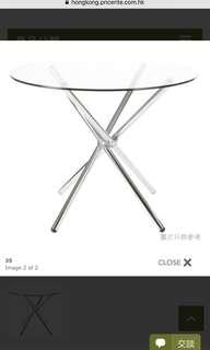 新高級玻璃圓餐檯 - $999