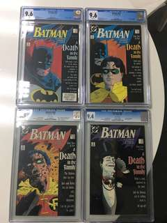 Batman Death in the Family #426 to #429 CGC
