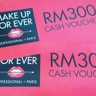 One MAKE UP FOR EVER Cash Voucher - SELLING FAST!
