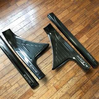 Honda Civic FC Inner Scuff Plate Black Chrome