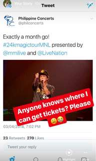 Looking for Bruno Mars Manila tickets