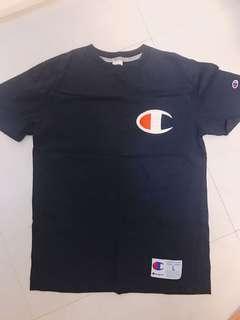 Champion 大logo 日版藍色 Tee tshirt