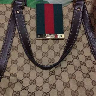 Gucci leather bag...