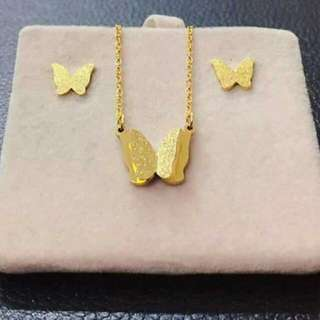 Set(necklace & earrings)