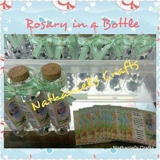 Rosary in a Bottle/Pouch/Clear Box/Tin Can