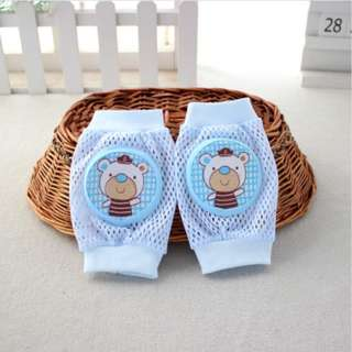 Lovely Breathable Mesh Knee Pad for Children - Pelindung Lutut Bayi (Blue)