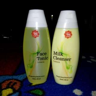 Viva Face Toner & Viva Milk Cleanser (Lemon)
