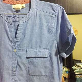 H&M Light Blue Denim Shirt