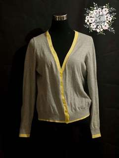 Grey and Yellow Cardigan