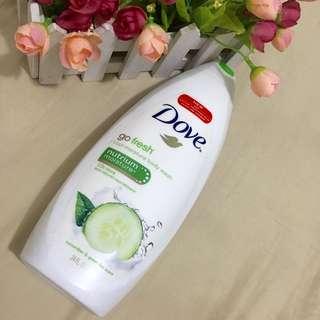 BN dove green go fresh body wash