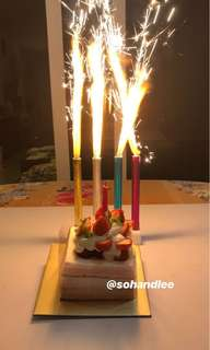 Birthday sparkle candles