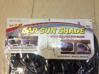 Static electric sunshade