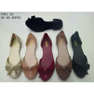 New arrive flat cristal jelly shoes SI005