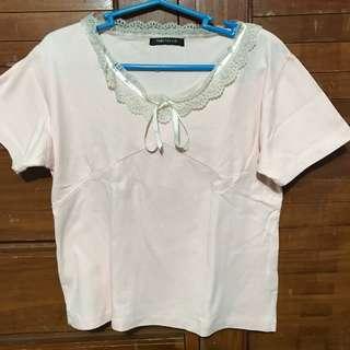 Pink shirt (semi croptop)