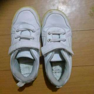 Kids White Rubber Shoes US 13